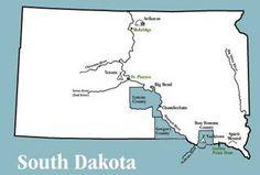 South Dakota Map of the trek Lewis and Clark took when they went through South Dakota.