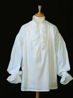 Square cut frilled cotton lawn period shirt (SH110)