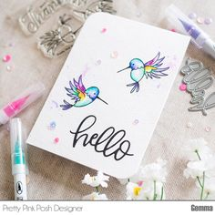 The beautiful images in the Pretty Pink Posh Hummingbird Thanks stamp set are perfect for many different colouring techniques. For the card I'm sharing today, I did some watercolouring. I love to r…