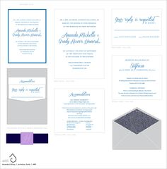 Suite-Hearts Design -- Wedding invitation suite for Amanda & Gray -- in progress design preview // If pinning, please credit © the-summerhouse.com
