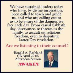 ldsconf 2016. Awaken to our awful situation