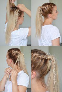 dutch braid updo tutorial 2