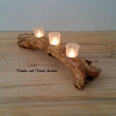 Wood tea light holder, Branch tea light, Driftwood centerpiece, Wooden votive holder, Mantle votive, Reclaimed tree Branch, Wedding Decor