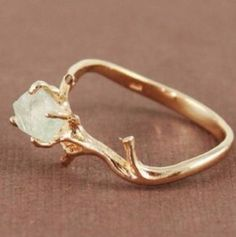 Crystal earth witch ring