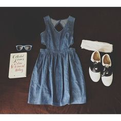 Dress, glasses and shoes.