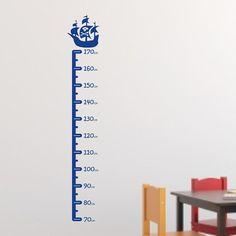 Pirate Ship Children's height chart wall sticker H631K