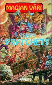 Terry Pratchett, Magian väri, Lukuhaasteen kohta 29 Kirja, jossa on taikuutta Terry Pratchett, Comic Books, Comics, Cover, Comic Book, Comic Book, Blankets, Comic, Cartoon