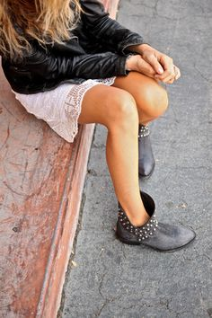 studded boots #style #fashion #shoes