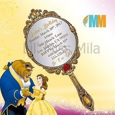 Beauty And The Beast Shower Invite Template Beauty And
