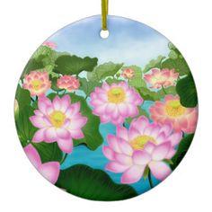 Oriental Lotus Flowers Ornament  #ornaments  #lotus