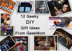 12 Geeky DIY Gift Ideas From GeekMom: 8-Bit afghans, monster patches, steampunk fairy wings, infiniti orb, dalek party dress, and more!