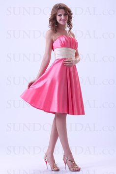 A-line Sweetheart Taffeta Watermelon Bridesmaid/Cocktail Dress(SD30649)