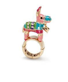 betsy johnson ring  i like to think candy comes out when you punch someone in the face with this