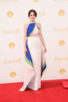 Michelle Dockery in Rosie Assoulin at the 2014 Emmys Red Carpet