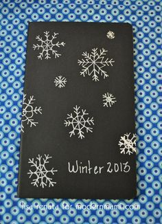 DIY Winter Snowflake Journal for Mom, plus one to make with the kids!