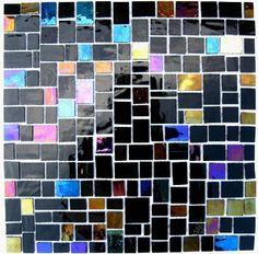 Vetro Glass Random Pattern - Black Pearl