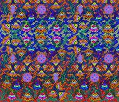 Batik Flowers, Boho-chic fabric by cherie on Spoonflower - custom fabric