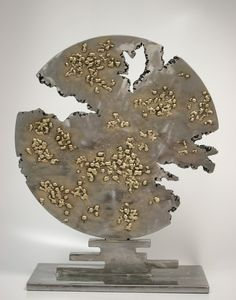 """After the Cosmic Rain"". Interior sculpture. Steel and silicon bronze."