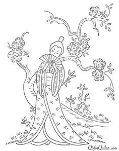 T T Oriental lady cherry blossom