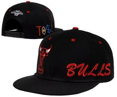 dbed5aeebfb98 NBA Chicago Bulls Snapback Hats Caps Tisa All Black 2211