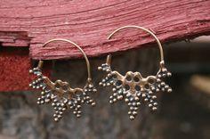 Medieval earrings Viking SCA bronze earrings por medievalcrowd