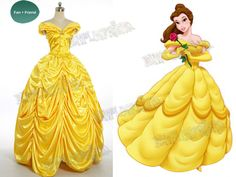Fanplusfriend Costume Store - Disney Beauty and the Beast Cosplay Belle Costume Yellow Ball Civil War Gown, $228.00 (http://fan-store.net/disney-beauty-and-the-beast-cosplay-belle-costume-yellow-ball-gown-2-colors/)