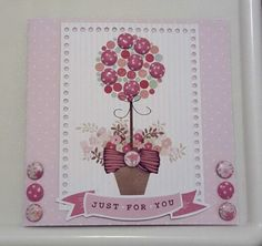 Create with Candi Floral Pad by Craftwork Cards. Created by Jane Compton Craft Projects, Projects To Try, Dots Candy, Card Candy, Craftwork Cards, Easy Cards, T Lights, Topiary, Creative Cards