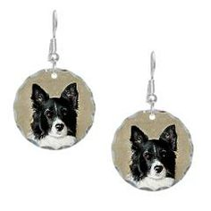Border Collie Earring Circle Charm > Border Collies > Dogs First