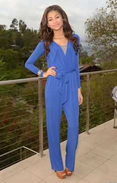 Zendaya -  sleek #blue #jumpsuit #zendaya #singer