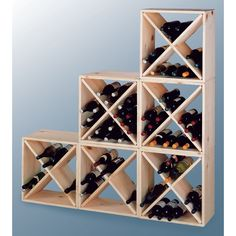 Wine Cellar Country Pine Cube Wine Rack - Totally doing this next to my stairs, but going to build myself.  Going to stain the wood.