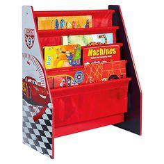 Hier sind die Bücher der kleinen Cars Fans sicher verstaut.<br /> <br /> Das niedliche Bücherregal im Cars Design passt perfekt in das Kinderzimmer kleiner Rennfahrer. In den Taschen können Bücher in den unterschiedlichsten Größen aufbewahrt und im Kinderzimmer besonders präsentiert werden.<br /> <br /> Details:<br /> <br /> - Material Korpus: MDF<br /> - Material Fächer: 100% Polyester<br /> - Material Ge...