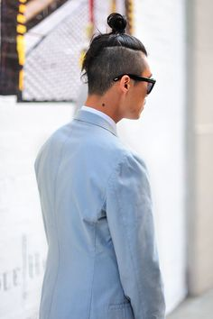 Man bun with an undercut