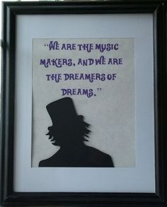 Willy Wonka Inspired Silhouette and Quote by storybooksilhouettes, $30.00