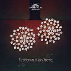 Buy Earrings Online Diamond Bloom 3 1 Detachable Studs from Kameswari Jewellers Diamond Earrings Indian, Diamond Earing, Diamond Bangle, Diamond Jewelry, Manubhai Jewellers, Buy Earrings, Cross Earrings, Simple Earrings, Wire Earrings