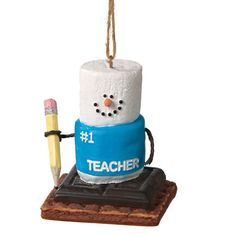 S'mores #1 School Teacher Christmas Ornament