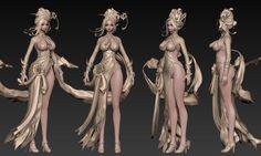 Top 3 Girl Art by Myunghyun Choi Myunghyun Choi is a Character Artist from seoul, Korea (South Character Modeling, Game Character, Character Concept, Character Design, 3d Fantasy, 3d Girl, 3d Artwork, Cg Art, Design Girl