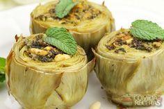 Receita de Alcachofra recheada com carne e funghi em receitas de legumes e verduras, veja essa e outras receitas aqui!