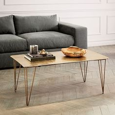 Brass Hairpin Coffee Table