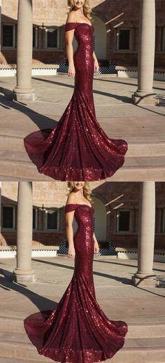 Charming Prom Dress, Off Shoulder Mermaid Prom Dresses, Sexy Burgundy Formal Evening Dress P0242 #promdresses #longpromdresses #2018promdresses #fashionpromdresses #charmingpromdresses #2018newstyles #fashions #styles #hiprom #burgundypromdress