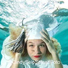 Underwater Graduation Portrait by ©Cindy Seip SplashFoto.com