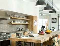 Industrial style: lighting for your kitchen decorating ideas