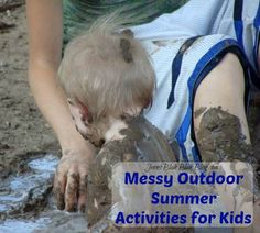 Check out these messy outdoor summer activities for the kids! What's not to love, cleanup is even easy if you are prepared with products like OxiClean™ HD™ Laundry Detergent #ad #jbbb #oxiclean OxiClean #jbbb