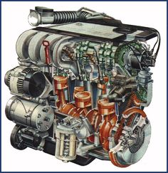 The all so loved, 6 cylinder, R shaped, 2.8L,  VR6 Engine. #vr6