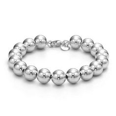 Sterling Silver Bead Bracelet NYC Inspired. $36.99. Comes with FREE Black Sueded-Cloth Jewelry Pouch. NYC Desginer Inspired Silver Jewelry. Comes in FREE Gift Box. Save 45% Off!