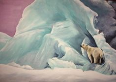 Portrait of a Polar Bear - Limited Edition Mounted A3 artist print by Heather Hindle by HeathersPortraits on Etsy