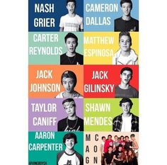 MagCon Boys (Nash Grier, Cameron Dallas, Carter Reynolds, Matt Espinosa, Jack Johnson, Jack Gilinsky, Taylor Caniff, Shawn Mendes and Aaron Carpenter)