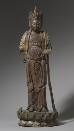 Standing Guanyin, China, Southern Song dynasty wood with traces of gesso, polychromy and gilding, Overall - cm inches). Severance Fund Cleveland Museum of Art © 2013 Cleveland Museum of Art. Ancient China, Ancient Art, Gautama Buddha, Cleveland Museum Of Art, Taoism, Guanyin, Buddhist Art, Chinese Art, Asian Art