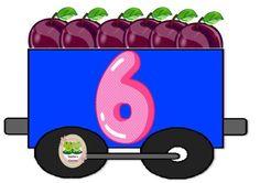 Math Numbers, Alphabet And Numbers, Preschool Math, Kindergarten Classroom, Train Clipart, Diy Classroom Decorations, Toddler Learning Activities, Class Decoration, Math Games