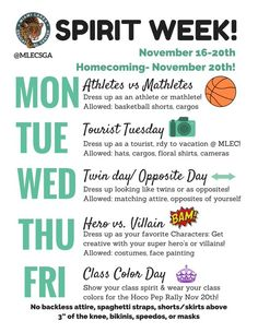 spirit week themes - Google Search