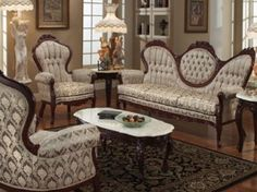American Victorian Furniture Victorian furniture was massive and